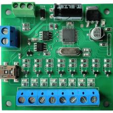 Контроллер световых эффектов на 8 каналов программируемый