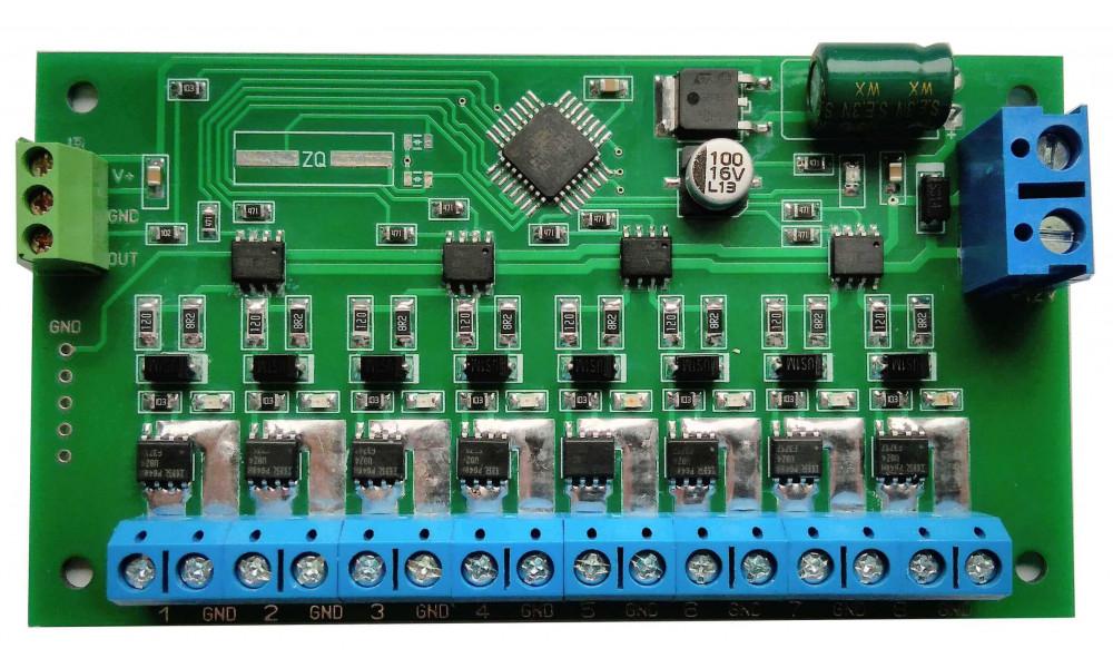 Контроллер световых эффектов на 8 каналов повышенной мощности